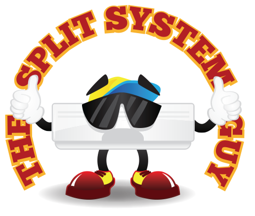 The Split System Guy Logo